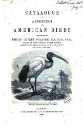 Catalogue of a Collection of American Birds