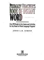 Primary Teacher's Book of Instant Word Games