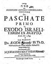 Diss. ... de paschate primo et exodo Israelitarum ex Aegypto