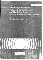 Radiological Impact Caused by Emission of Radionuclides Into Air in the United States PDF