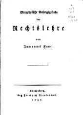 Metaphysische Anfangsgründe der Rechtslehre