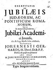 Exercitatio de iubilaeis Judaeorum, ac pontificum Romanorum