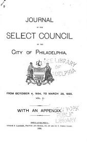 Journal of the Common Council, of the City of Philadelphia, for ...: Volume 2
