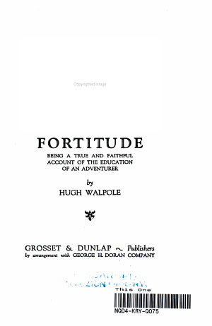 Fortitude  Being a True and Faithful Account of the Education of an Adventurer