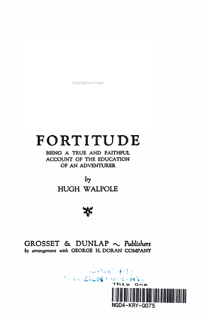 Fortitude  Being a True and Faithful Account of the Education of an Adventurer PDF
