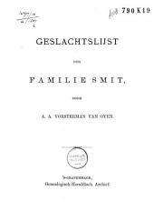 Geslachtslijst der Familie Smit