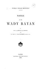 ... Notes on the Wady Rayan