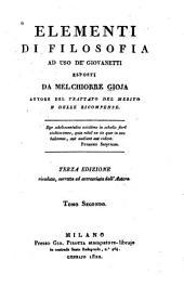 Elementi di filosofia ad uso de' giovanetti: Volume 2