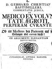 Commentatio iur. de medico ex voluntate aegroti perperam curante