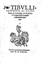 Tibulli, Propertii ac Ovidii Flores