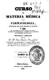 Curso de materia médica o de farmacologíia: traducido del que escribió en francés, Volumen 2