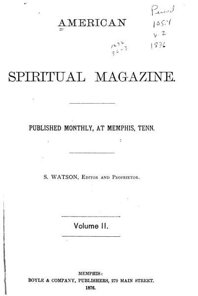 Download American Spiritual Magazine Book