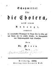 Schutzmittel für die cholera: Ausgabe 5