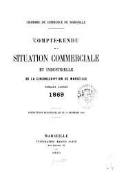 Compte rendu de la situation commerciale et industrielle de la circonscription de Marseille: pendant l'année .... 1869 (1870)