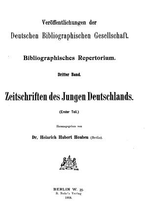 Bibliographisches Repertorium     PDF