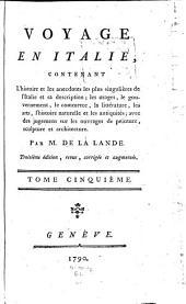 Voyage en Italie: Volume5