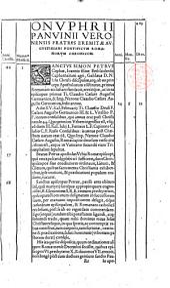 Onuphrii Panvinii ... De ritus sepeliendi mortuos apud veteres christianos, et eorundem coemeteriis liber