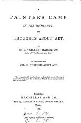 A Painter s Camp in the Highlands  and Thoughts about Art  Thoughts about art PDF