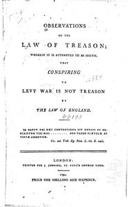 Observations on the Law of Treason Book
