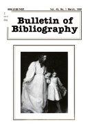 Bulletin of Bibliography PDF