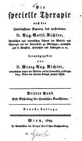 Die specielle Therapie: Chronische Krankheiten ; 1. Abtheilung, Volume 3