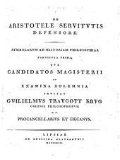 De Aristotele servitutis defensore...