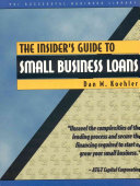The Insider s Guide to Small Business Loans PDF