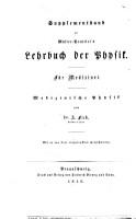 Die medizinische Physik   Supplement Band zu M  ller Pouillet s Lehrbuch der Physik    PDF