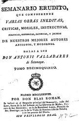 Semanario Erudito Book PDF
