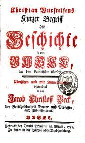 Christian Wursteisens kurzer Begriff der Geschichte von Basel