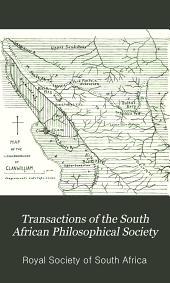 Transactions of the South African Philosophical Society: Volume 16