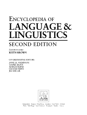 The Encyclopedia of Language and Linguistics  Du Gen PDF