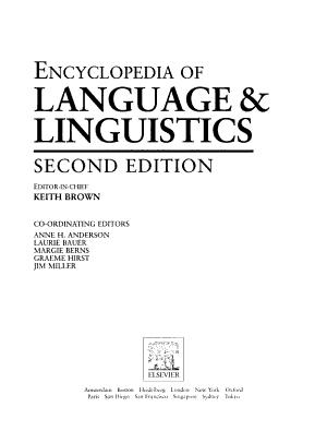 The Encyclopedia of Language and Linguistics  Du Gen PDF