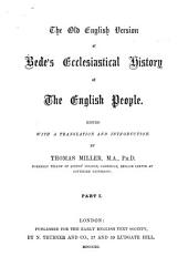 The Old English Version of Bede's Ecclesiastical History of the English People: Issue 110