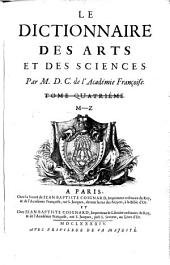 Le dictionnaire des arts et des sciences: Volume2