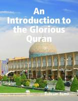 An Introduction to the Glorious Quran PDF