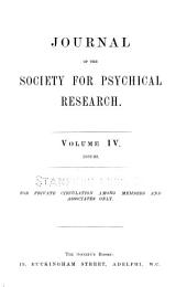 Journal of the Society for Psychical Research: Volume 4