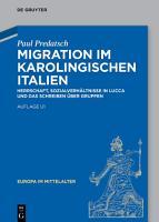 Migration im karolingischen Italien PDF
