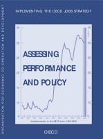 The OECD Jobs Strategy Implementing the OECD Jobs Strategy Assessing Performance and Policy PDF