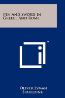 Pen and Sword in Greece and Rome