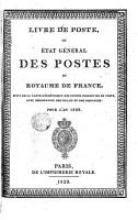 Livre de poste ou Etat general des postes du royamme de France PDF