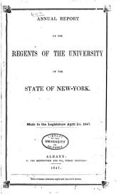 Annual Report of the Regents: Volume 60