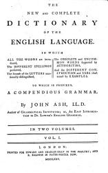 The New And Complete Dictionary Of The English Language Book PDF
