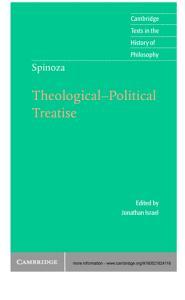 Spinoza  Theological Political Treatise PDF