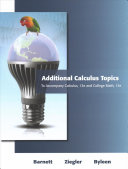 Additional Calculus Topics for Calculus for Business  Economics  Life Sciences and Social Sciences PDF
