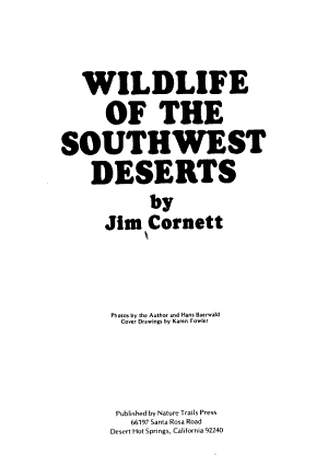 Wildlife of the Southwest Deserts