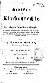 Lexikon des Kirchenrechts und der römisch-katholischen Liturgie: Band 2