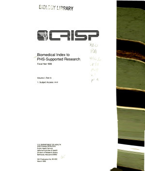 Biomedical Index to PHS supported Research PDF