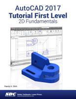 AutoCAD 2017 Tutorial First Level 2D Fundamentals PDF