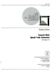 1977 Census of Construction Industries: Industry Series, Plastering, Drywall, Acoustical and Insulation Work Special Trade Contractors, SIC Code 1742